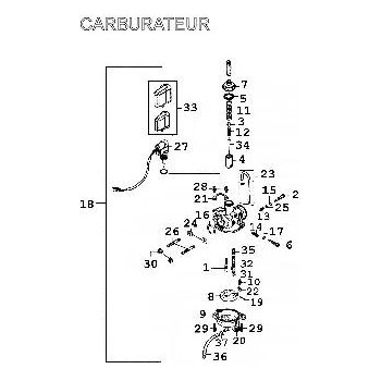 Carburateur Origine