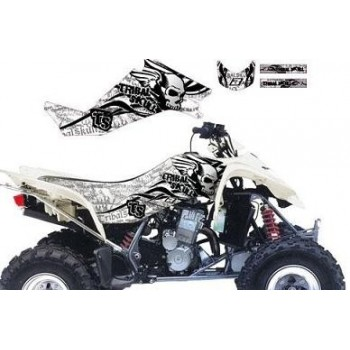 Kit Déco ''Tribal Skull 2'' Graphic Blanc - BlackBird - Suzuki LTZ 400