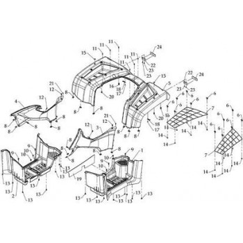CACHE LATERAL DROIT - CARENAGE - Hytrack HY590 4x4